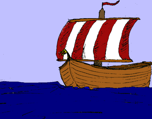 A sketch of a viking ship